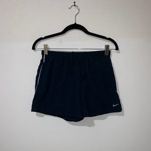 NIKE DRI-FIT NAVY BLUE RUNNING SHORTS - S(4-6)